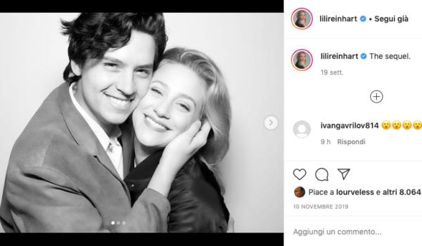 Cole Sprouse e Lili Reinhart, relazione al capolinea (dopo tre anni d'amore)