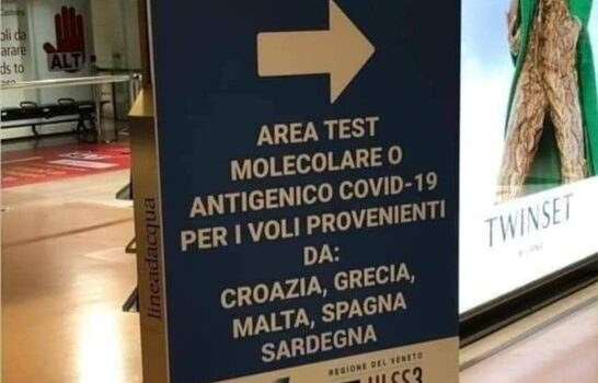 Covid: a Venezia test per i voli da Sardegna, è polemica