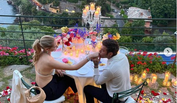 Chiara Ferragni e Fedez romantici a Portofino: «La cena più bella»